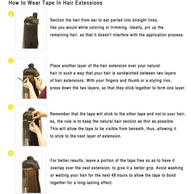 Tape-In extension How TO..